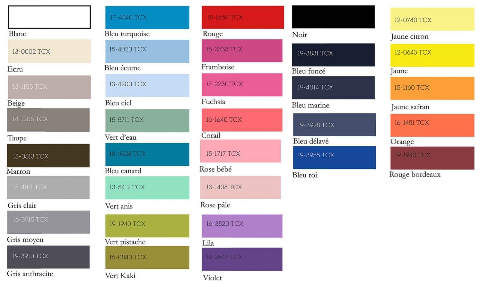 Les couleurs de foutas